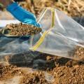 Coleta de amostras de solo para análise