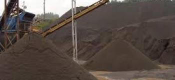 Pó de rocha basalto